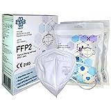 QZY - Mascarilla FFP2 Caja De 10 Mascarillas Certificado CE Con banda elástica y pieza nasal ajustable 5 capas de filtración, mascarillas FFP2, Protección bucal, Respirador…