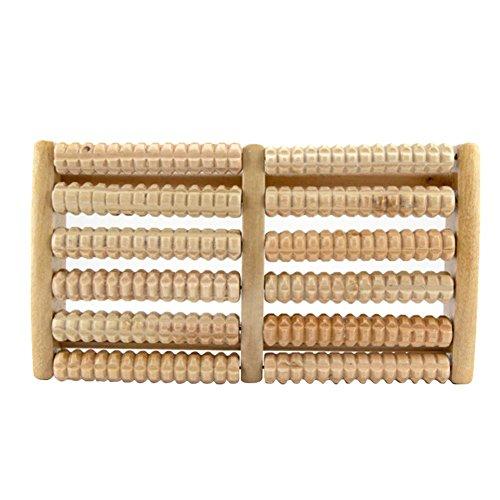 Yves25Tate Fußmassageroller Holzwalzen,Fuß Roller,Fuß Massage Roller,Fussmassagegerät,Fussmassageroller aus Holz, Massagerolle für Entspannung im Alltag,Auch als Geschenk