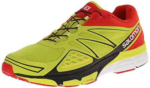 Salomon X-Scream 3D - Zapatillas de Correr en montaña para Hombre, Color Amarillo (Gecko Green/Bright Red/Black), Talla 40 2/3