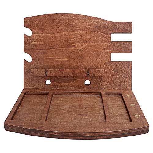 Estación de acoplamiento de teléfono de madera Gadget móvil Organizador de escritorio Titular de la llave Monedero Reloj Accesorio de carga Mesita de noche para hombre Mujer Regalo de cumpleaños