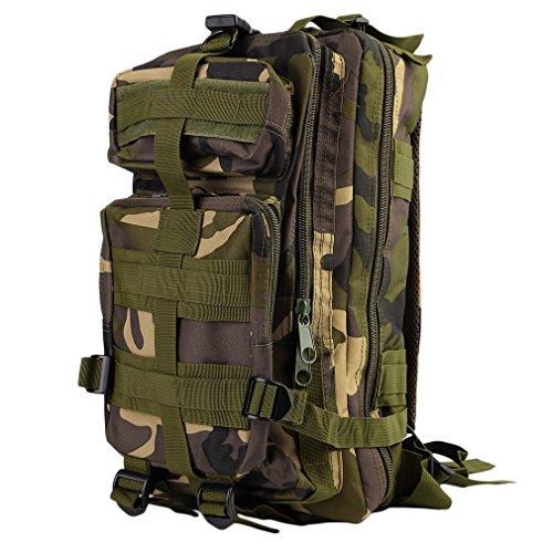 Mochila Táctica Militar Impermeable de 30L Hecho de 600D Nylon Respal