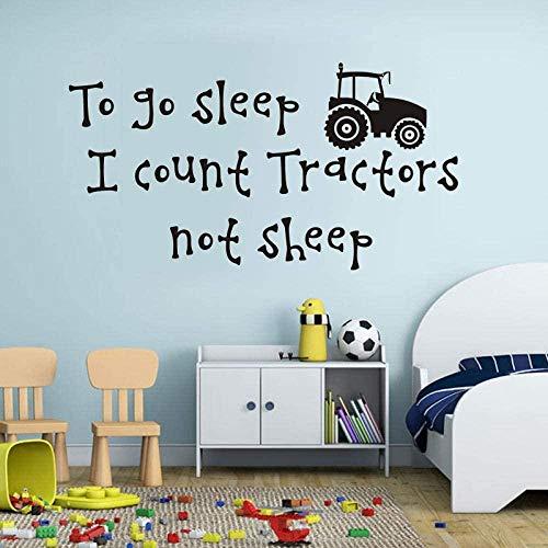 jjyyy Etiqueta de la Pared Historia Tractor no es Oveja Etiqueta de la Pared habitación de los niños decoración del hogar Etiqueta de Vinilo extraíble Etiqueta de la Pared de Dibujos Animados 82X44Cm