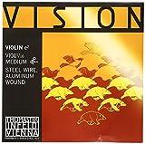 Thomastik Cuerda para violín 1/16 Vision - cuerda Mi acero, entorchado aluminio, medio, bola extraible