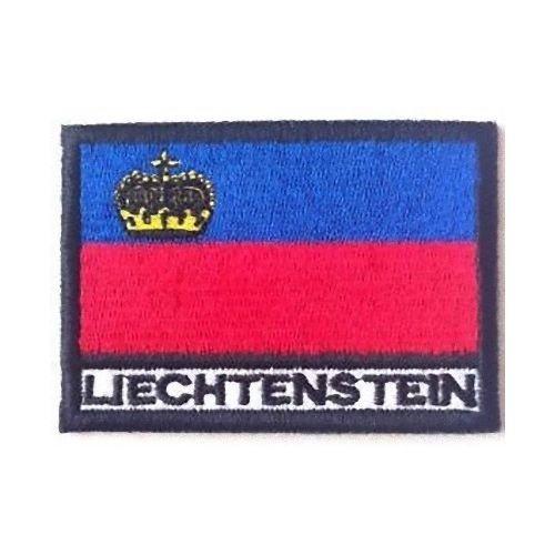 MAREL Patch Flagge Lichtenstein cm 7 x 5 Patch Stickerei Liechtenstein -299