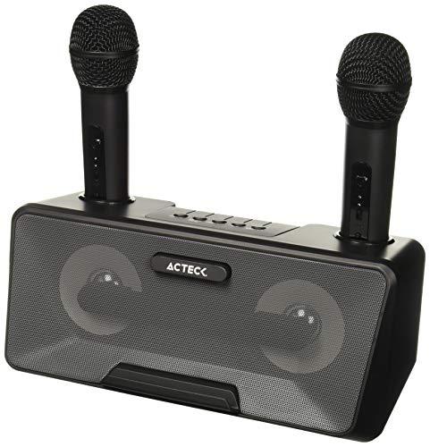 ACTECK BOCGEN3490 Bocina Sistema de Entretenimiento Karaoke, Ac-926935, 50 W, Negro, 100 Hz-18 KHz, 2x10 W