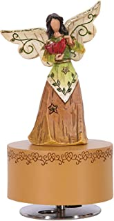 Wooden Music Box, Hand Crank Carving Music Box, Gift for Kids,Family and Friends, Songs, Angel is Calling(Resin)