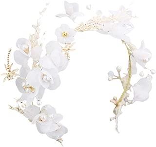 Wedding Tiara Dried Flowers Gypsophila Headdress Ladies Headband Grland Hair Decoration Accessories White for Photography