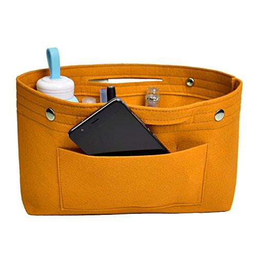 NOTAG Taschenorganizer Handtasche Kosmetik Organizer Tasche Organizer Leichte Große Kapazität Aufbewahrungstasche Accessoires Kosmetiktasche 6 Farben (S, Gelb2)