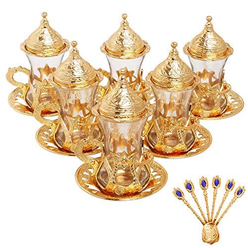 Alisveristime Juego de 6 vasos de té turco hecho a mano Zamzam...