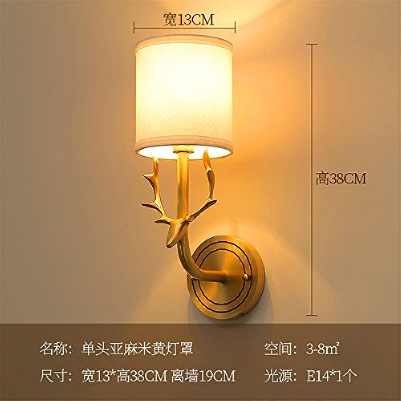 StiefelU LED Wandleuchte nach oben und unten Wandleuchten Ein Messing Hirschkopf Wand lampe Nachttischlampe im Schlafzimmer Wohnzimmer Badezimmer Spiegel vorne Licht Strae Flur ist, WA 2.