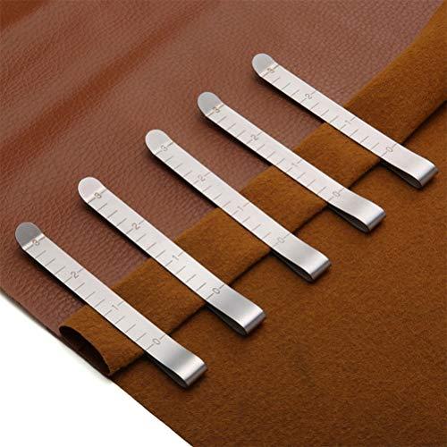 WOWOSS Juego de 20 Clips de Costura de Acero Inoxidable, Pinzas de Coser de 7,5 cm para Marcar y Medición