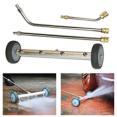Pressure Washer, Pressure Washer Undercarriage Cleaner,Pressure Washer Accessories Stainless Steel Water Broom Portable 4 Spray Nozzle With Extenion Wands Undercarriage Cleaner by Yiran