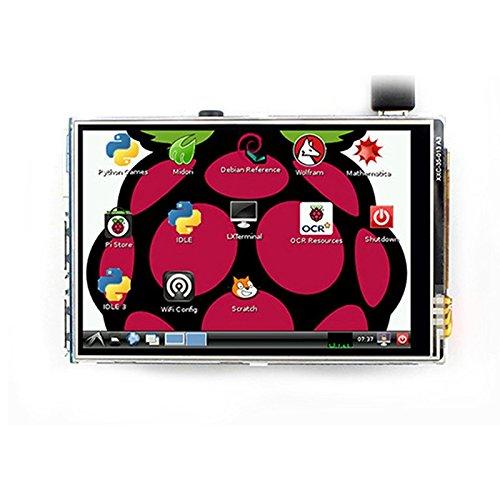 Gesh Raspberry Pi 8,9 cm (3,5 Zoll) TFT-LCD-Modul für Raspberry Pi 2 Modell B & RPI B+ Raspberry Pi 3 (unterstützt Raspbian-System)