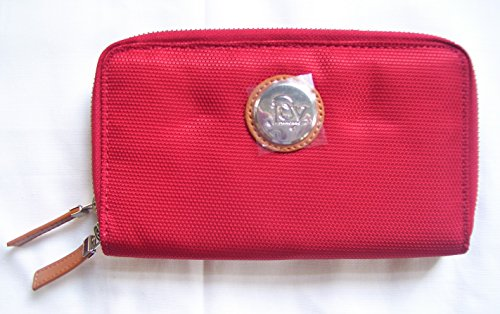 Joy Mangano, TuffTech Luggage Double Wallet with RFID Protection, Red