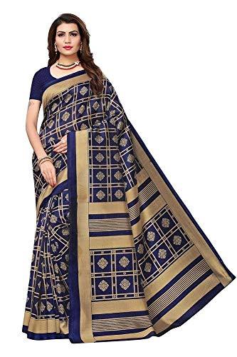 Indische Bollywood Hochzeit Saree indische ethnische Hochzeit Sari neue Kleid Damen lässig Tuch Geburtstag Ernte Top Mädchen Frauen schlicht traditionelle Party Wear Readymade Kostüm (blue)