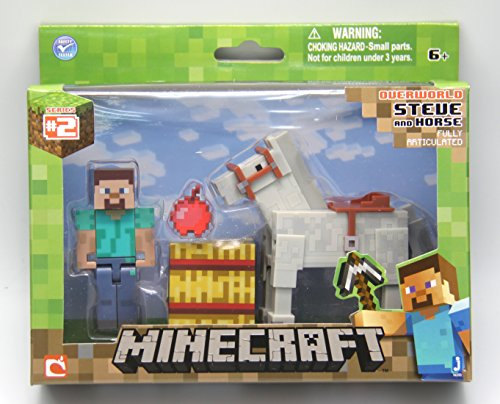 Product Image of the Minecraft Steve with White Horse Figure Pack