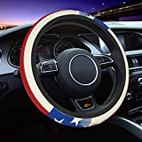 American Retro Flag Universal 15 Inch Steering Wheel Covers Non Slip Neoprene Car Wrap Cover for Adults