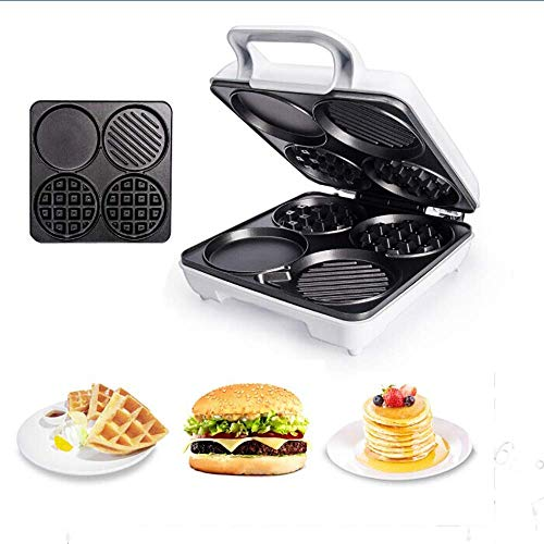 AMYZ Waffle Maker Iron Machine Quality Double Waffle Maker 1000W Electric Non-Stick Coating Mould Deep Cooking Plates for Double Waffles Fried Eggs Fried Hot Dog