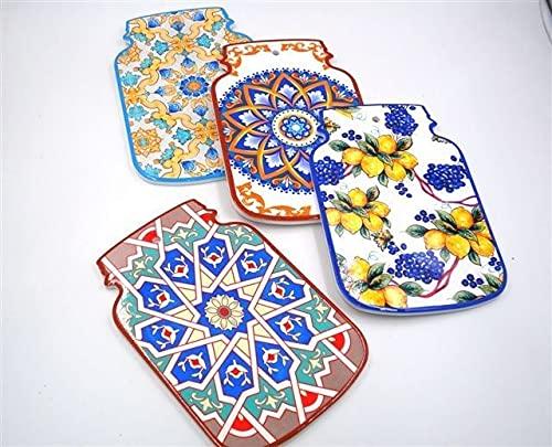 Sottopentole in Ceramica e Sughero Fantasia Vietri 15 x 23 cm 4 Decori
