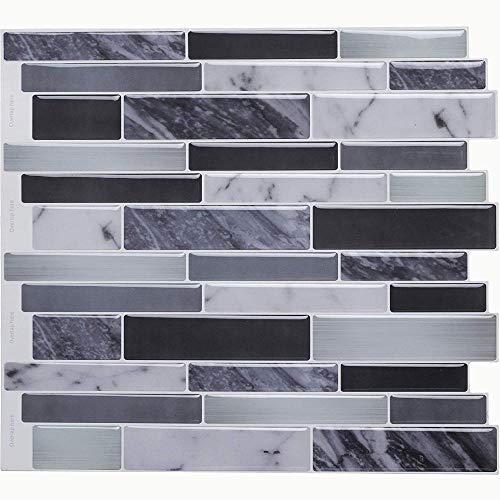 Vinilo decorativo para azulejos grueso y resistente al desgaste,Etiqueta engomada de la etiqueta de la pared del azulejo del mosaico de la etiqueta engomada DIY de la cocina del cuarto de baño decor