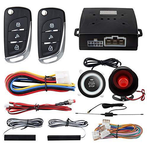 EASYGUARD EC003N-V Car Security Alarm System PKE Passive keyless Entry Remote Engine Start Stop keyless go System DC12V