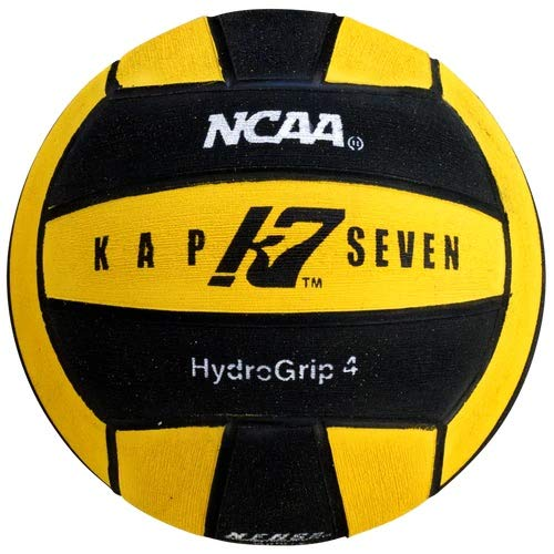 KAP7 Size 4 HydroGrip Water Polo Ball (NCAA and NFHS Official), Yellow/Black