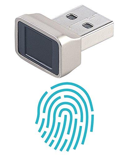 Xystec Fingerabdruckscanner: Finger-Abdruck-Scanner für Windows 7, 8, 8.1 & 10, mit 360°-Erkennung (USB Fingerabdruck Scanner)