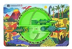 6. Constructive Eating Dinosaur Combo with Utensil Set