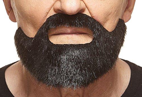 Mustaches Kurzer schwarz glänzender Hollywoodian fälschen, selbstklebend Bart