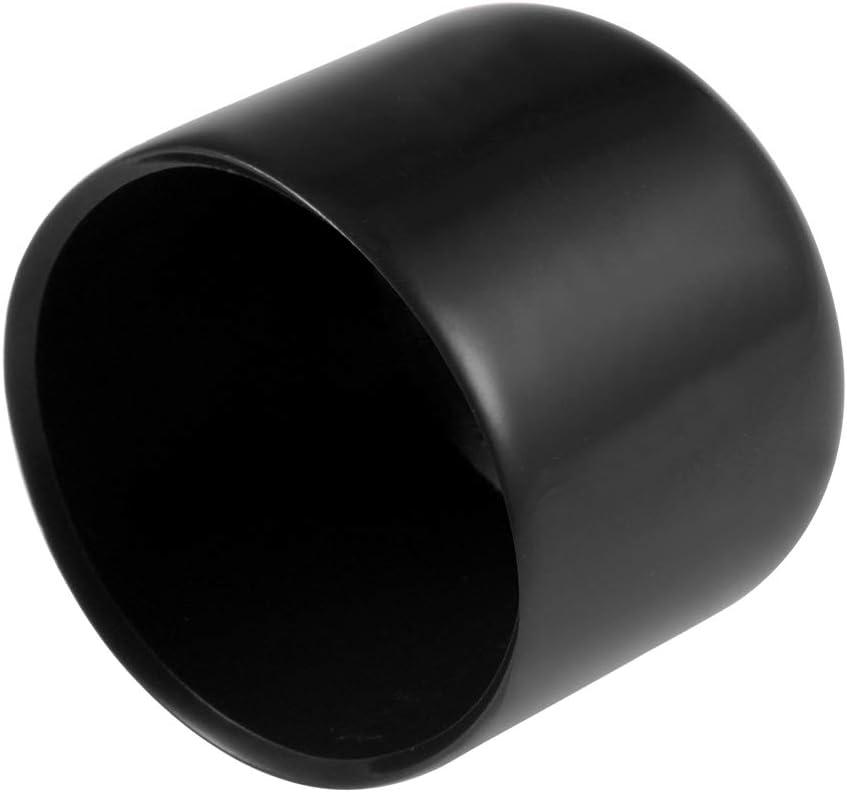 sourcing map 15pcs Rubber End Caps 20mm ID Vinyl Round End Cap Cover Screw Thread Protectors Black