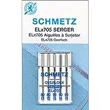 Euro-Notions elx705Serger Needles-Sizes 12/80(2), 14/90(3), Otros, Multicolor...