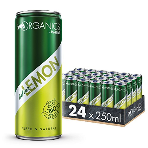 Organics by Red Bull Bitter Lemon Dosen Bio, 24er Palette, EINWEG (24 x 250 ml)