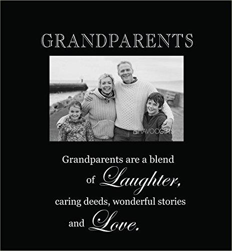Infusion Gifts 3003-LB Bilderrahmen mit Gravur, Großeltern, groß, Schwarz