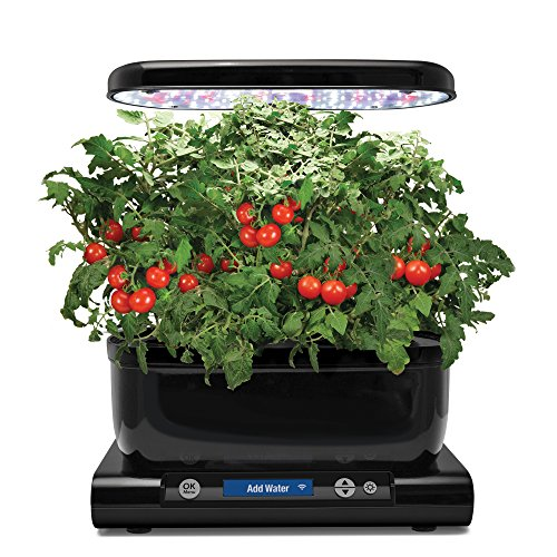 AeroGarden 901074-1100 6 Wi-Fi with Gourmet Herb Seed Pod Kit, Black Garden, Enabled