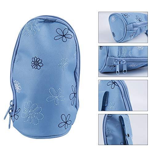 Baby Flaschentasche tragbare Stillmilch Flaschentasche Isolierte Brustmilch Einkaufstasche Reiseisolations Aufbewahrungswärmer Tasche Kinder Milch Flaschen Wärmehalter für Baby Fütterung (Blau)