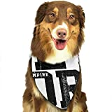 YAGEAD Chien Bandana Chiot et Bandanas pour Animaux de Compagnie, T-Shirt Rose Newyork City Slogan Graphics College Text Abstract Academy American Badge Pet Scarf