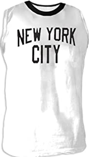 John Lennon NYC New York City Walls and Bridges Pose Cut-Off White T-shirt Tee