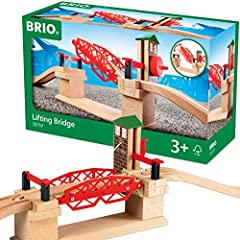 Product includes - The Lifting Bridge comes with 3 pieces; a bridge unit that can be moved up and down with a mechanical crank, and two access tracks. Perfect for the creative toddler - Expand your budding train engineer's collection with a BRIO Lift...
