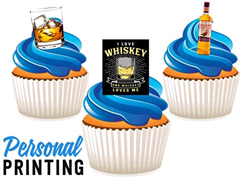 PP - The Famous Grouse Whiskey Trio Mix 12 Edible Stand up Premium Wafer Card Cake Toppers Decoraties