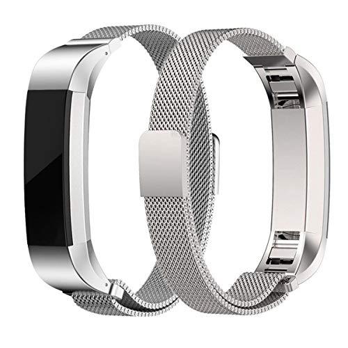 Gabriel, Cinturino di Ricambio in Acciaio Inox con Chiusura Magnetica per Fitbit Alta/Fitbit Alta HR Fitness Tracker