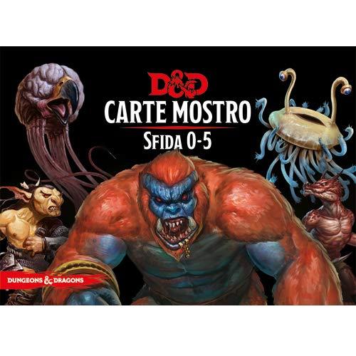 Asmodee Italia- Dungeons & Dragons-5a Edizione-Carte Mostro Sfida 0-5, Colore, 4032