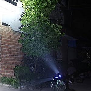 Super Bright 3 Modos Q5 L2 LED luz de la bici 4400 MAh, 8800 MAh / 900 Lumens potente faro de la bicicleta USB recargable IPX4 impermeable bicicleta frontal ( Color : Silver , Size : 8800 mAh )