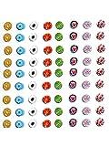 10 Grammi di murrine di Murano 6/7mm (Circa 25/30 Pezzi) millefiori Glass Tanti Colori Colori Rosso Azzurro Bianco Viola etc Pezzi di Vetro per Mosaico Hobby Gioielli +1 Portachiavi amuleti