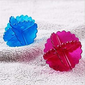 LWPDJB 12PC Boule à Linge Anti-enroulement Propre Cristal Machine à Laver Tambour Machine sèche Boule, Rouge