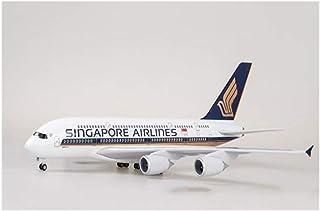 1/160スケール50CM航空エアバスA380シンガポール航空モデルライトダイキャストレジン飛行機コレクション旅客機W Standable飛行機 D-20-8-07