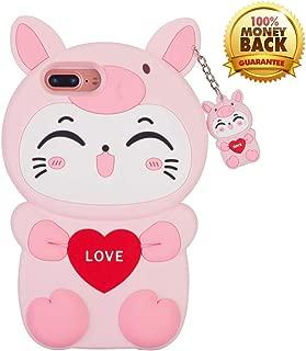 YINTRADE 3D Pink Cat Case for iPhone 8 Plus/7Plus/6S Plus/6 Plus (5.5
