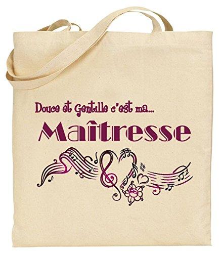 Tote Bag - Sac en Toile - Cadeau pour Maîtresse - Cadeau...
