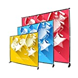 Sign Talk 10x8ft Telescopic Banner Stand Step and Repeat Adjustable Backdrop Wall Exhibitor Expanding Display Photographic Background Trade Show Photographic Back Ground