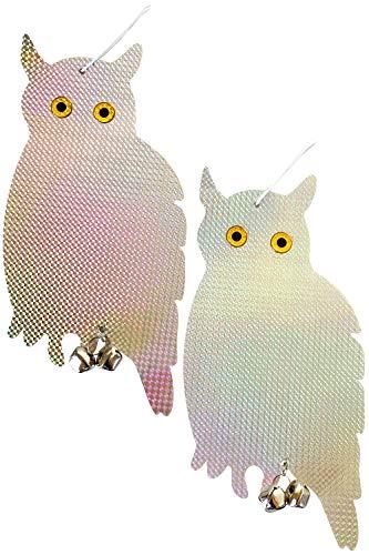 JMARS 鳩よけ 鳥よけ反射板 カラス撃退 吊り下げ式 鳥害対策 <2枚組> ベランダのフン害対策 (縦型)
