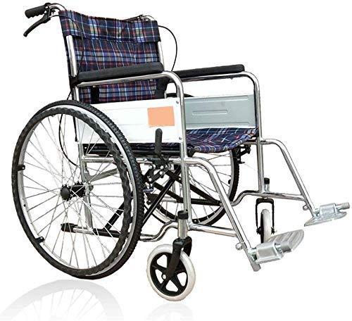 TYZXR Leichter faltender Rollstuhl, der medizinisch fährt, Rollstuhl-Überzug-weicher Rollstuhl, älterer Rollstuhl, untauglicher Portable